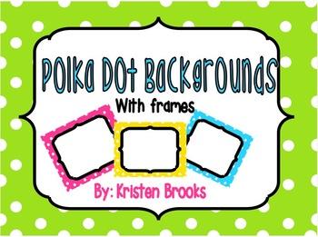 Polka Dot with Frame Background Set