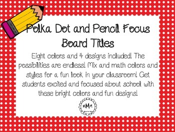 Polka Dot with pencil accent Focus/CBC Board Titles