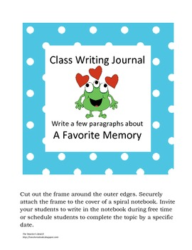Class Writing Journal Covers Polka Dot/Monster Theme