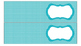 Polka Dots Labels for 10-Drawer Organizer (Aqua and Black)
