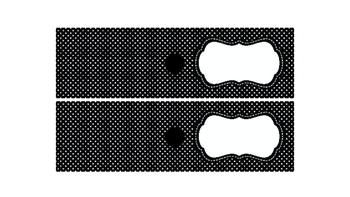 Polka Dots Labels for 10-Drawer Organizer BUNDLE