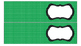 Polka Dots Labels for 10-Drawer Organizer (Green and Black)