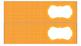 Polka Dots Labels for 10-Drawer Organizer (Orange and Black)