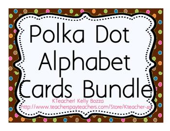 Polka Dots Alphabet Cards Bundle