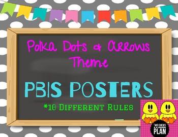 Polka Dots & Arrows Theme PBIS Posters