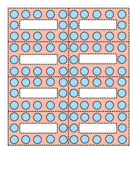 Polka Dots Blue and Coral small labels