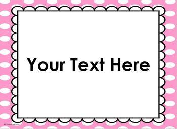 Polka Dots Bright Theme Behavior Clip Chart Editable