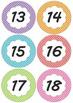 Polka Dots Calendar Numbers 2