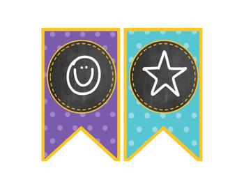 Polka Dots & Chalkboard Theme {Welcome Banner}