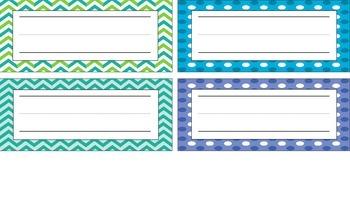 Polka Dots, Chevron, Blue, Green Desk Name Plates