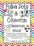 Polka Dots & Chevron Classroom Decor Pack