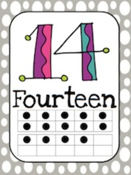 Polka Dots & Chevron Numbers 0-20