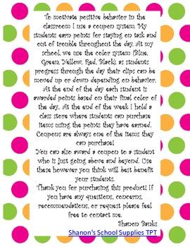 Polka Dots Classroom Coupons