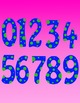 Math Numbers Clipart - Polka Dots