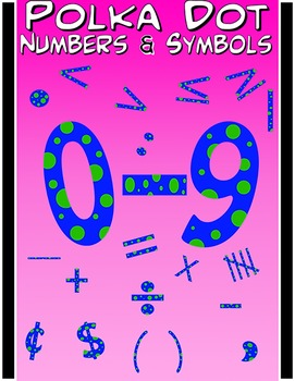 Math Numbers Clipart - Polka Dots