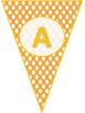 Polka Dots Customized Pennant banners