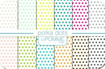 Polka Dots Patterned Digital Paper Pack Freebie