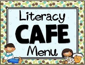 Polka Dots {Earthy CAFE Literacy Menu}