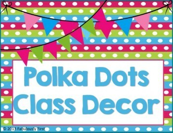 """Polka Dots Everything"" Room Decor"