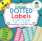 Polka Dots Labels Editable Classroom Notebook (Party Colors, Avery 5160, 8160)