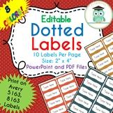 Polka Dots Labels Editable Classroom Notebook Folder Name Tag (FALL, Avery 5163)