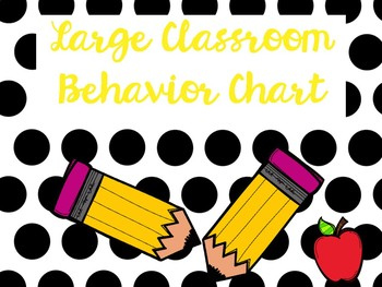 Polka Dots: Large Classroom Behavior Chart
