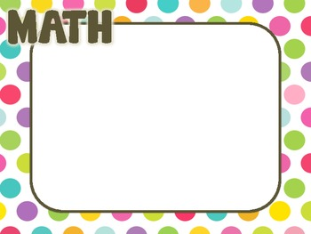 Polka Dots Learning Target Posters