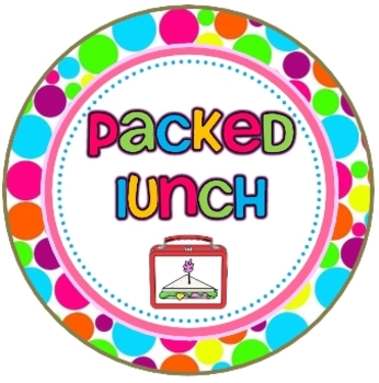Polka Dots {Lunch Choice Circle Posters}