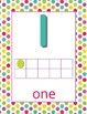 Polka Dots Number Posters 0-20 with Ten Frame Dots