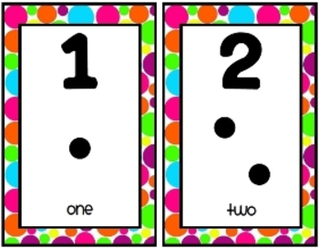 Polka Dots {Number Strip}