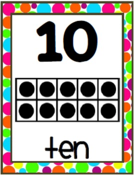 Polka Dots {Number Strip 8x10}
