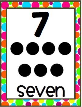 Polka Dots {Number Strip 8x10}