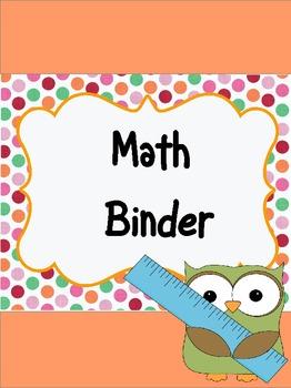 Polka Dots & Owls Teacher Binder Covers