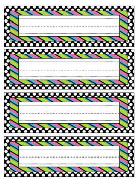 Polka Dots & Striped Classroom Decor Bundle
