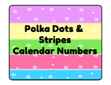 Polka Dots & Stripes Calendar Numbers
