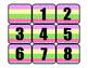 Polka Dots & Stripes Calendar Numbers