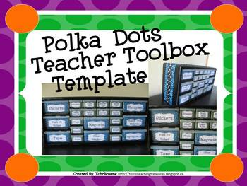 Polka Dots Teacher Toolbox Template - Editable