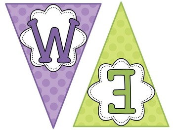 Polka Dots Welcome Bunting Banner