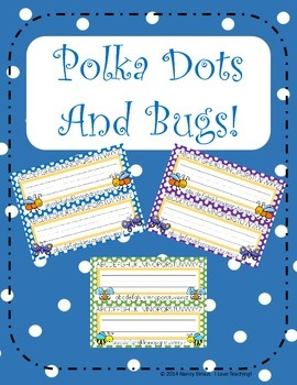 Polka Dots and Bugs Name Tags!