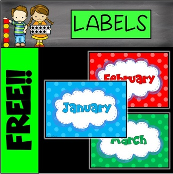 FREE Months of the Year Labels