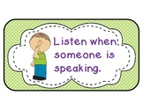 Polka Dots and Kids Classroom Rules Posters