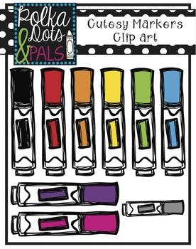 Polka Dots and Pals' Cutesy Marker Clip Art