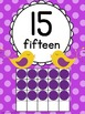 Numbers, Colors & Shapes Posters {Polka Dots & Pretty Bird