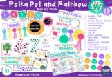 Polka Dots and Rainbow Class Décor (Full Package)