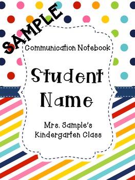 Polka Dots and Stripes Communication Notebook Set