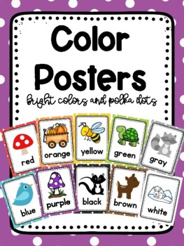 Polka Dots and Woodland Friends Color Posters