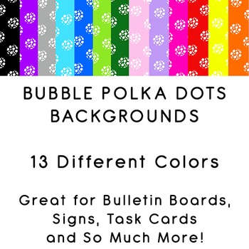 Polka Dots made of Bubbles Pattern -- Brightly Colored Backgrounds