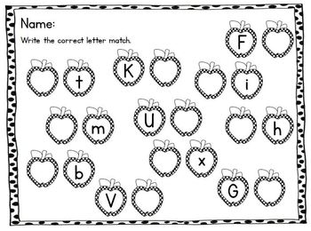 Polka Dotted A-Z Matching Cards