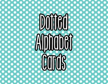 Polka Dot Alphabet Letter Cards (Blue) - Word Wall, Classr