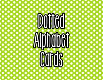 Polka Dot Alphabet Letter Cards (Green) - Word Wall, Classroom Decor